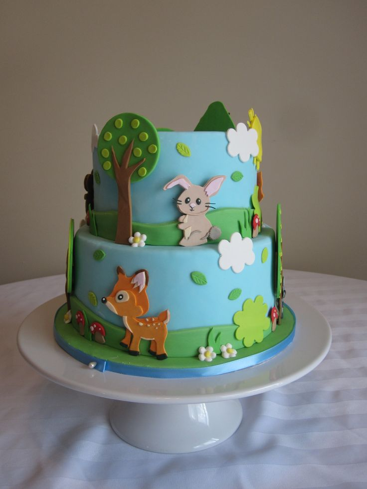 Forest animal cake cakes pinterest animals cakes for Animal cake decoration