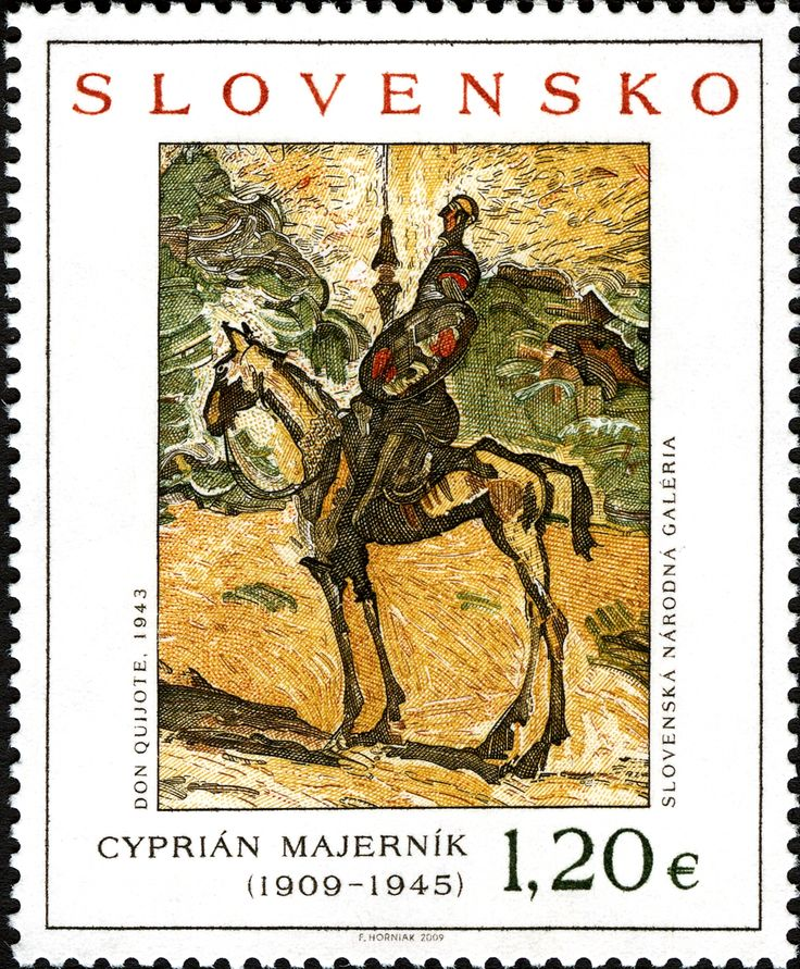 Slovakia - Cyprian Majernik (1909-1945) pintura de Don Quijote 1943