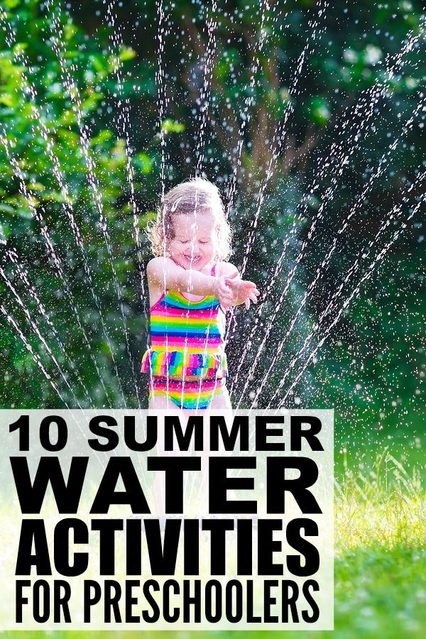 This collection of water activities for preschoolers is the perfect way to have fun in the sun with your kids this summer! These are simple enough that you can do them at home or while traveling, and they make for fantastic boredom busters for long summer days!