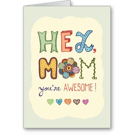 Awesome Mom Mother's Day greeting card | Mothers Day