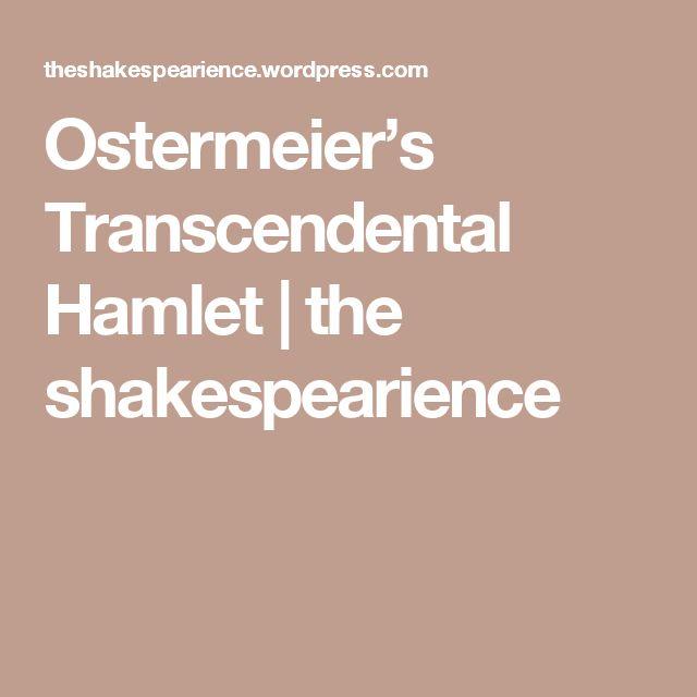 Ostermeier's Transcendental Hamlet | the shakespearience
