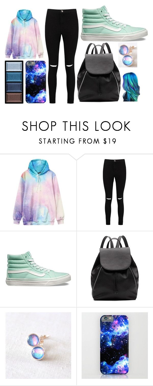 """""""Galaxy"""" by thisisalle on Polyvore featuring Boohoo, Vans, Witchery and Clé de Peau Beauté"""
