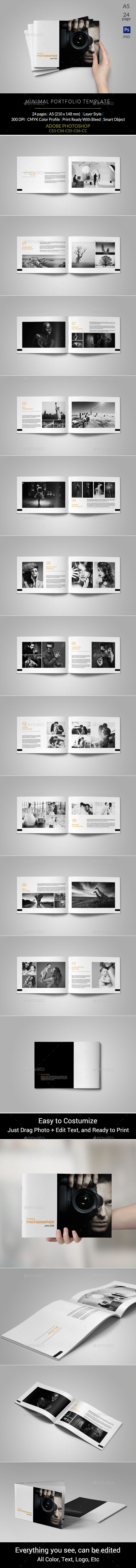 Portfolio Photographer Brochure Template PSD #design Download: http://graphicriver.net/item/portfolio-photographer/13628798?ref=ksioks