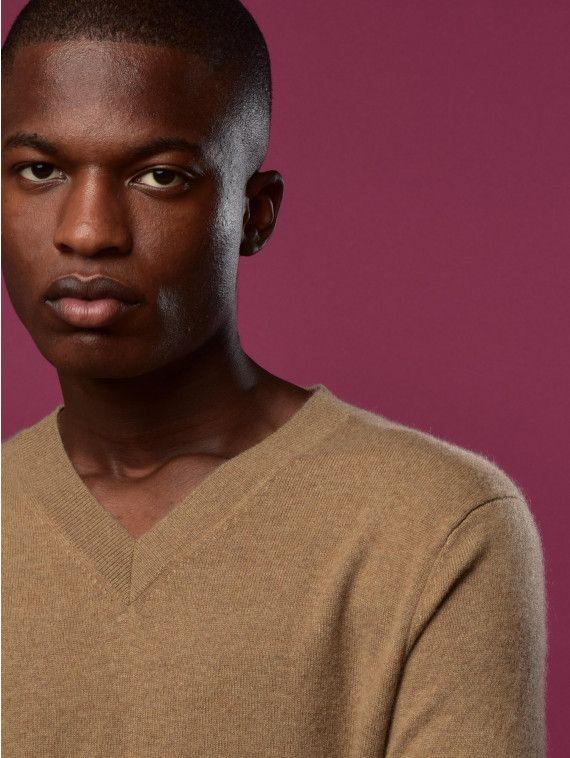 Men V Neck Sweater_Dark Beige #AD, #Neck, #sponsored, #Men