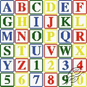 Alphabet Block Letters Cross Stitch