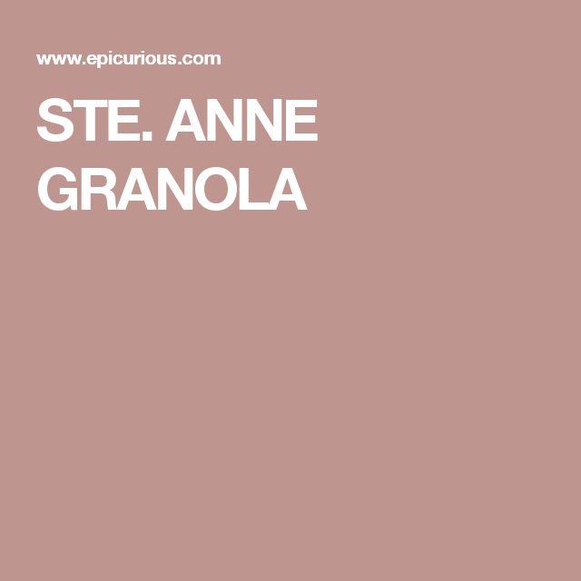 STE. ANNE GRANOLA