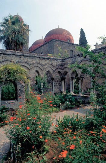 Cloister of St. John of the Hermits, Palermo Sicily photo