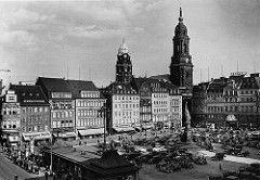 Altmarkt and Kreuzkirche.. Dresden.. Saxony.. c1930