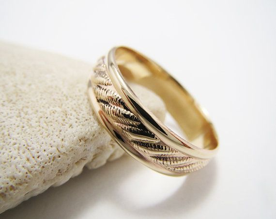 A Simple Rope Pattern Gold Filled Ring Band by LittleSomethingsAnn