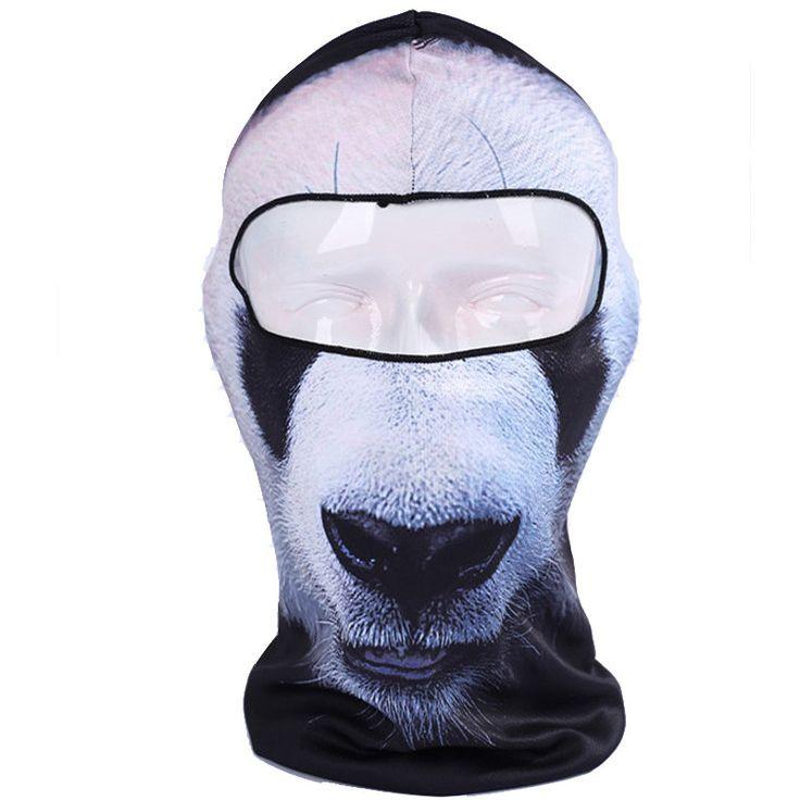 3D Panda Cycling Sports Outdoor Ski balaclava Snowboard Motorcycle Skull Cap Helmet Balaclava Headgear Sunscreen Hats Full Face