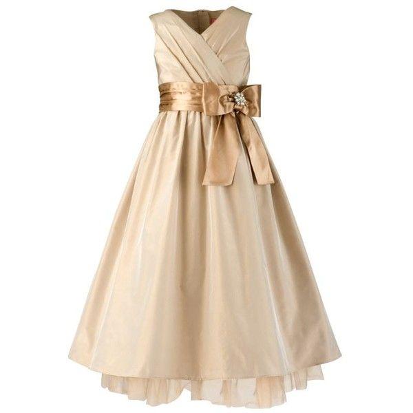 John Lewis Gift List Wedding: John Lewis Taffetta Bow Bridesmaid's Dress, Champagne, 8-9