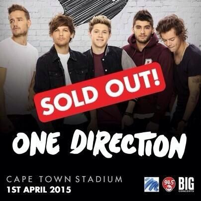 The Cape Town show In South Africa is sold out