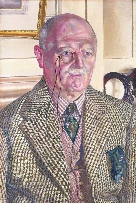 Major E. O. Kay  by Stanley Spencer        Oil on canvas, 75 x 49 cm (estimated)      Collection: Ferens Art Gallery