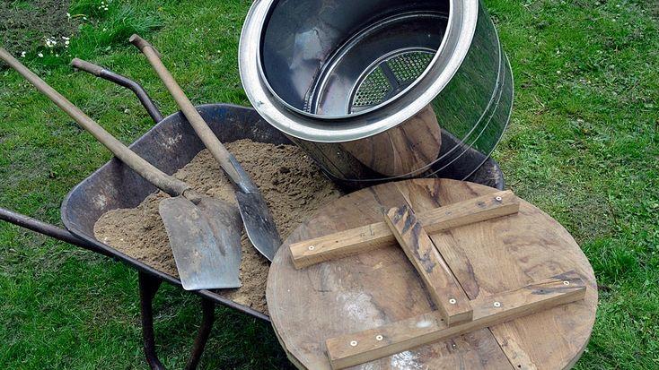Erstellen Sie einen Erdkeller im Garten
