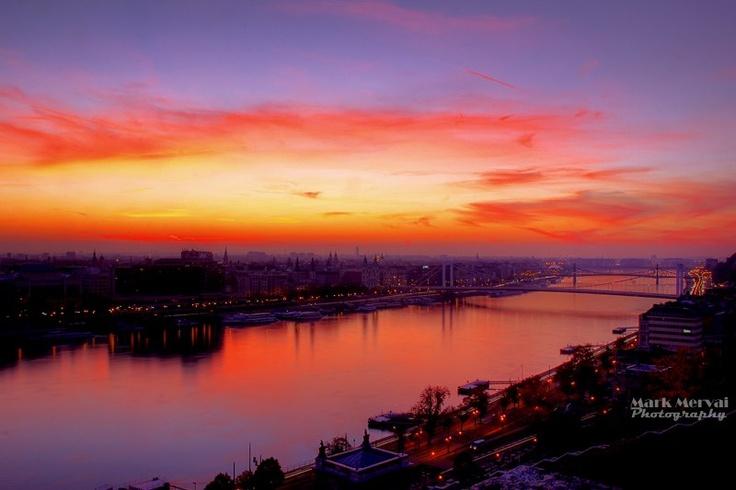Sunrise over Budapest by Mark Mervai