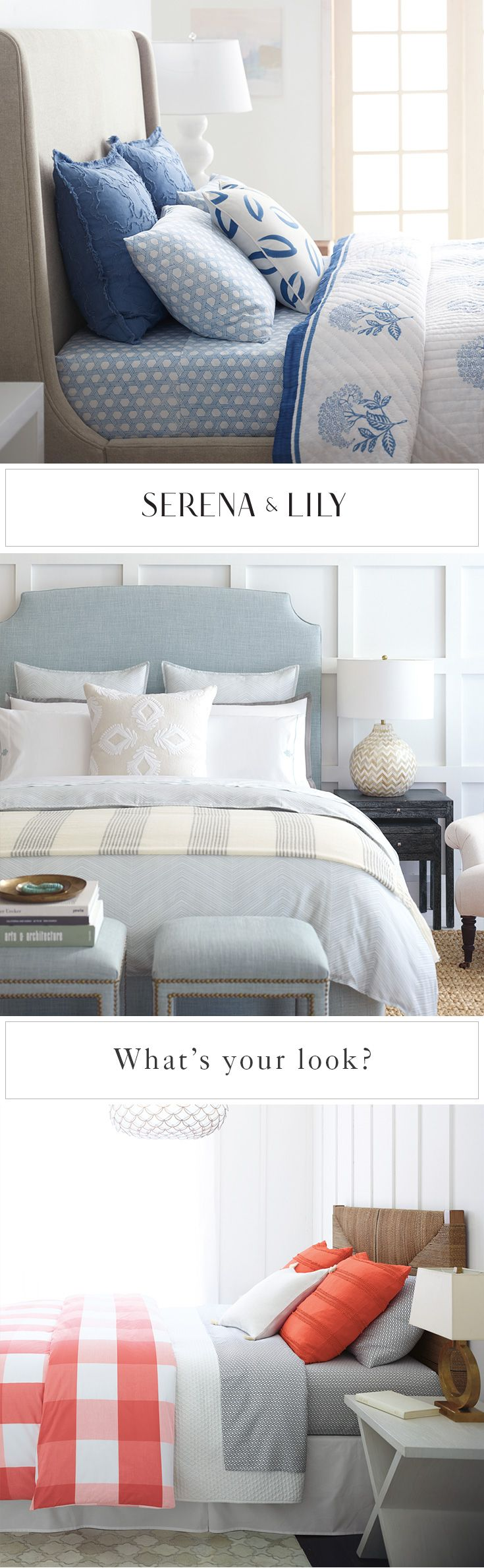 How do you make your bedroom your own? Find your perfect look at Serena & Lily.