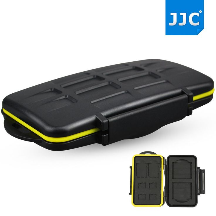 JJC Water-resistant Holder Storage Memory Card Case For 2 CF+2 SD 4 MicroSD Card #JJC