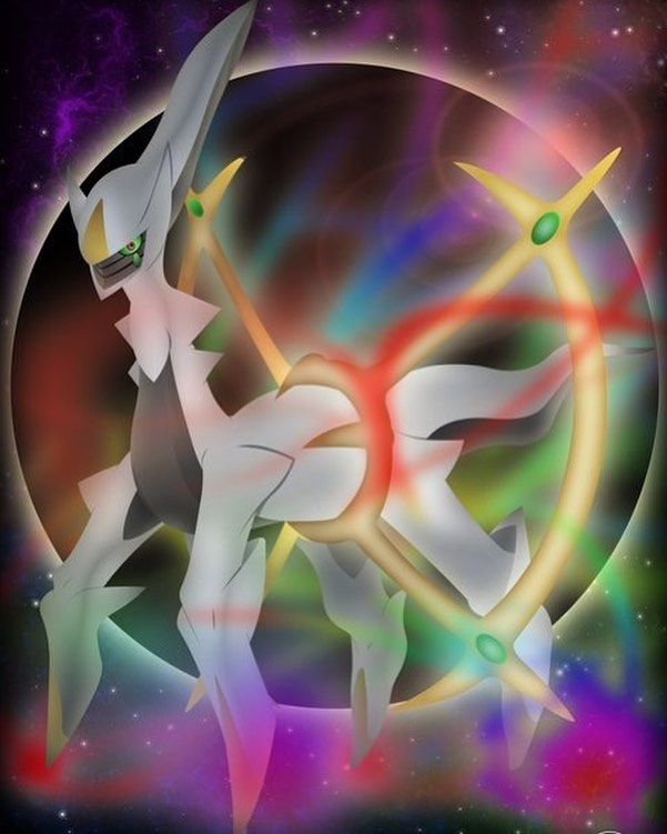 Reposting @edo_nova: La verdad, es que no sabía que Pokémon escoger esta semana, pero me decidí finalmente por Arceus, el llamado Pokémon Alfa, quien lo creó todo y a todos. La mitología que envuelve a éste Pokémon es sorprendente y abrumadora, una de las mejores que han creado para el lore del juego.  Espero que os guste como ha quedado, por que en lo personal, me gusta como ha quedado  Arceus #Arceus #Pokemon #Fanart #DigitalArt