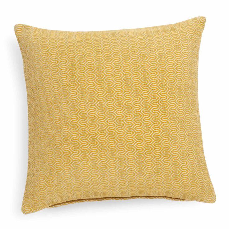 JOBS yellow cushion 45 x 45 cm