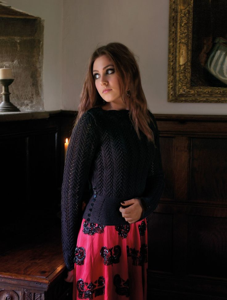ENCHANTED, DESIRE lace sweater with peplum | Kim Hargreaves