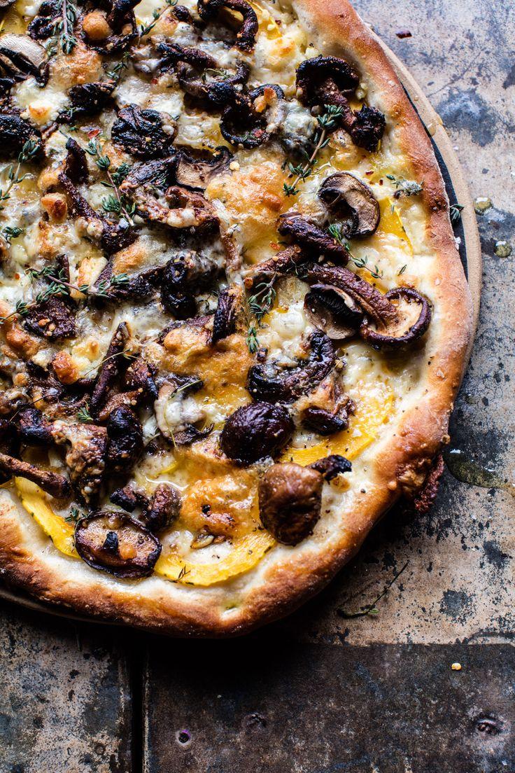 Balsamic Mushroom and Goat Cheese Pizza | halfbakedharvest.com @hbharvest