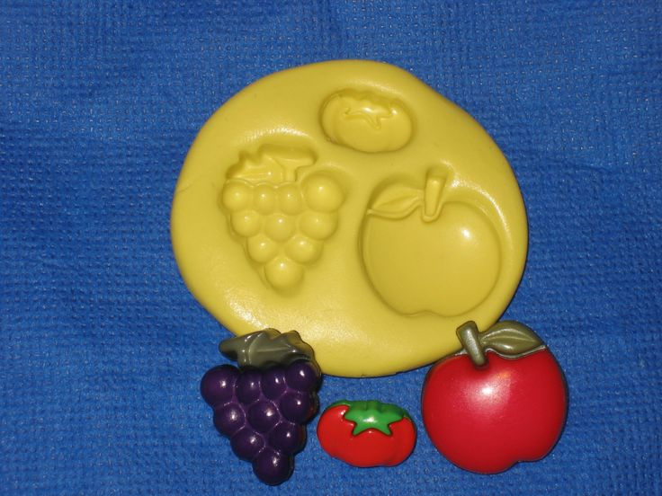 Grapes Apple Tomato Push Mold Resin Clay Candy Food Safe Silicone #311 by LobsterTailMolds on Etsy