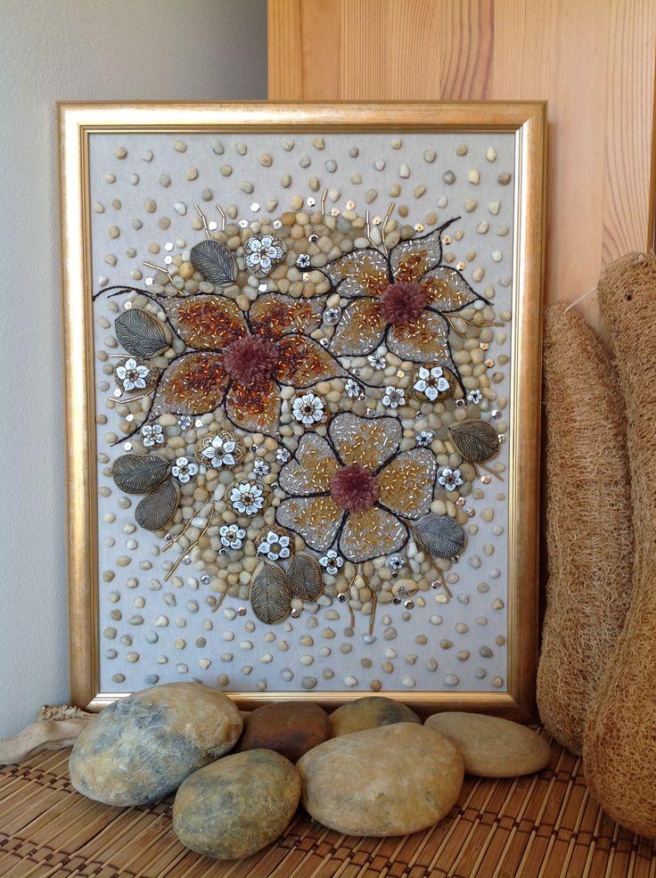 Aranyvirágos csokor részlet 30/40 cm