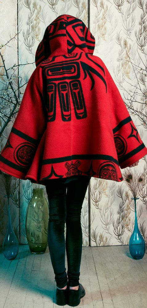 Raven Cloak, Pendleton by Lindsey Thornburg... Reminds me of little red riding hood cape