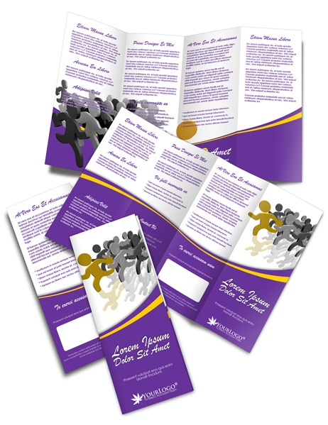 Double parallel fold brochure for Double parallel fold brochure template