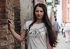 Tričká - Ručne kreslené tričko s horami - 8206589_