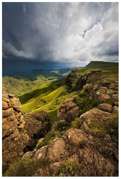 Drakensberg mountains.  by *hougaard.