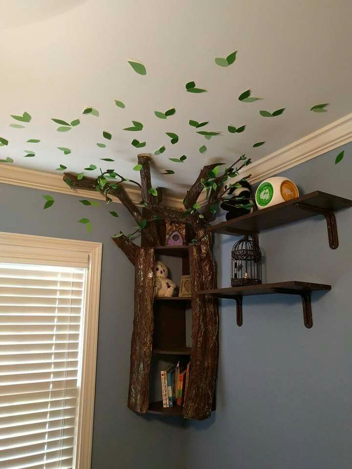 Beautiful tree bookshelf   Perfect for nursery.