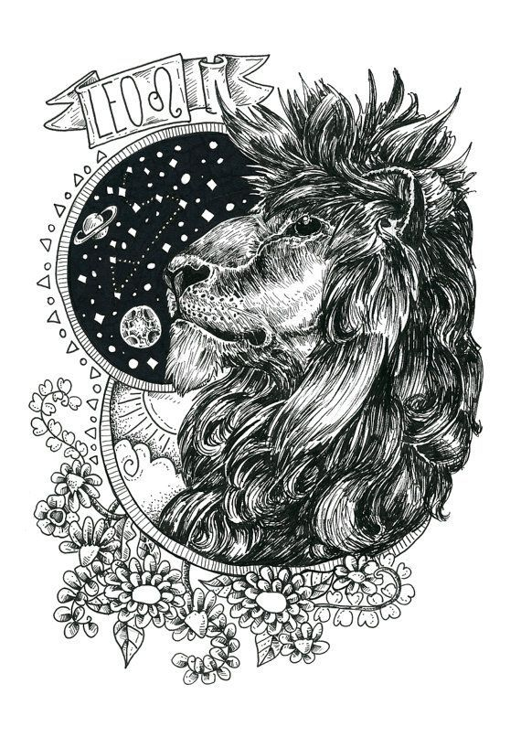 Free Coloring Pages Astrology Leo