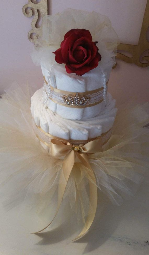 Princess Baby Shower Disney Princess Belle Tutu by ItsUpInTheAttic