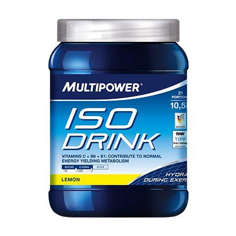 Suplimente Multipower. Iso Drink este o bautura energizanta izotonica, care contine un amestec de carbohidrati, l-carnitina, vitaminele C, B6 si B1 si BCAA.