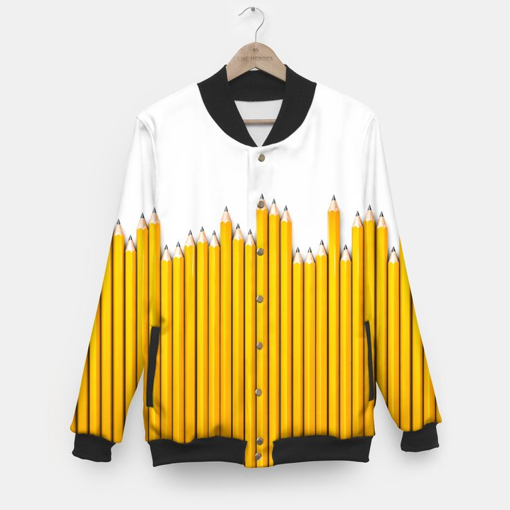 Pencil Row Baseball Jacket by Grandio Design 54.95€