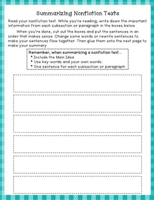 6th Grade summarizing worksheets 6th grade : 4Th Grade Summarizing Worksheets Free Worksheets Library ...
