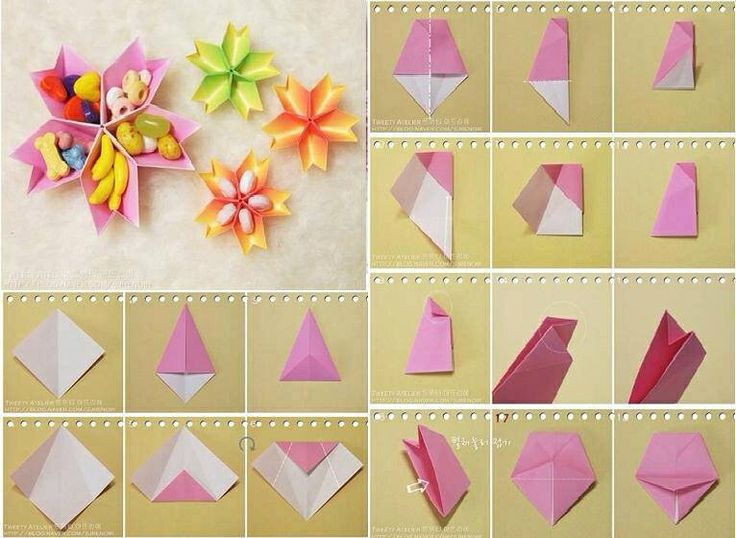 Paper Flowers Dish Origami