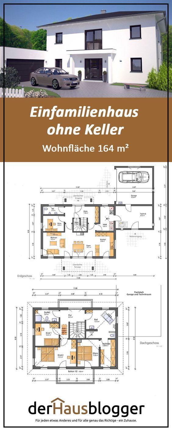 Einfamilienhaus ohne Keller, Wohnflaeche 164 m2