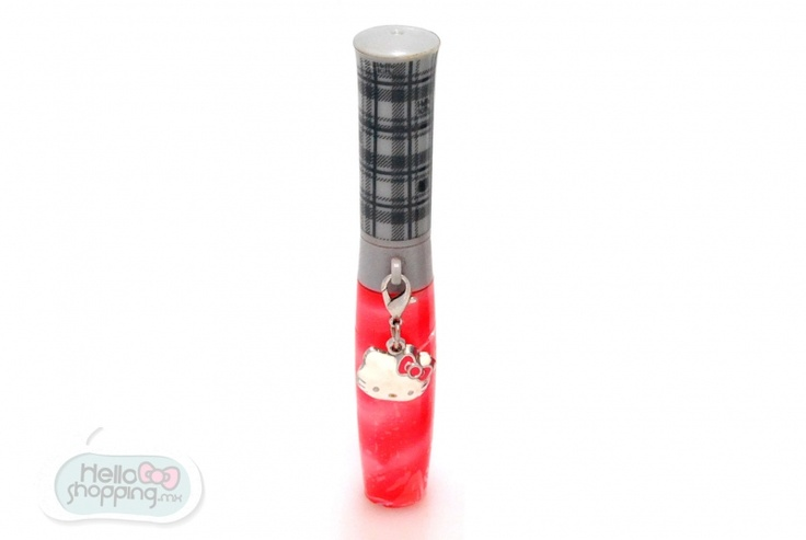 Hello Kitty Gloss: Tartán Rojo $199.00  Contiene 13.3ml