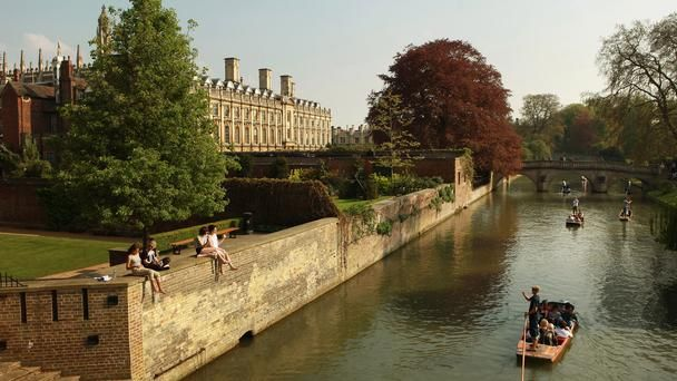 The River Cam in front of the colleges of Cambridge University
