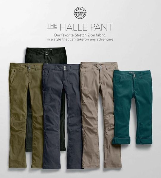 The Women's Halle Pants from @prana are one of our very favorite products here at Granite. Moisture managing, water resistant, and reinforced at the knees, the versatile prAna Halle Pant is prepared for mountain hikes, desert bouldering, and anything else you can throw at it. Your imagination will limit you before the Halle ever does. We've got a full run of sizes in short, regular and long lengths in black, coal and khaki. Stop up to find your fit! (at Granite Sports)