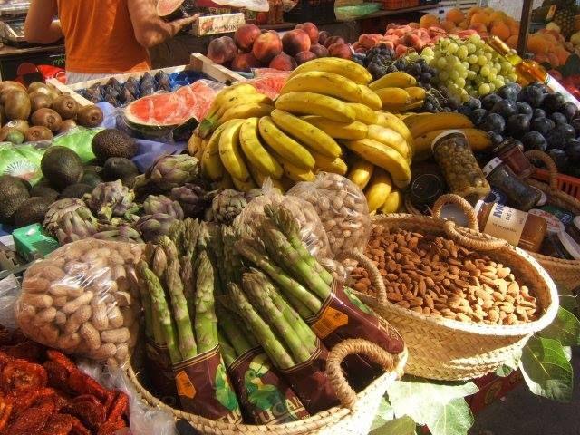 Frutas, verduras y frutos secos
