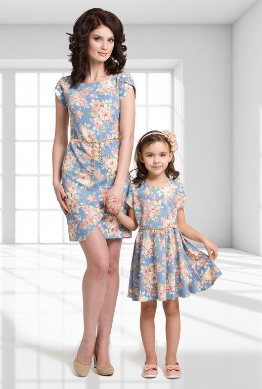 Платья для мамы и дочки коллекция 2015 Весенняя улыбка