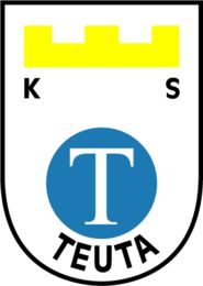 KF TEUTA (from the city of Durrës) Logo with KS referring to multi-sportsclub Klubi Sportiv - football team is Klubi i Futbollit Teuta Durrës with own logo - not (yet) on this board