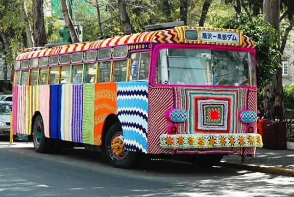 Yarn bombing a new form of street graffiti/art.  AMAZING!
