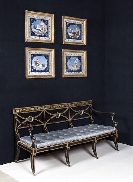 Regency / Sheraton Period Painted Settee Sofa by THOMAS SHERATON - Michael Lipitch