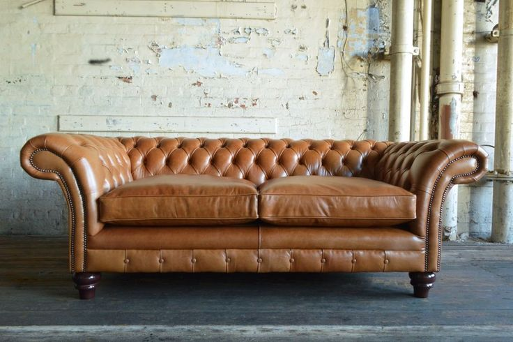 +HANDMADE+3+SEATER+VINTAGE+ANTIQUE+TAN+LEATHER+CHESTERFIELD+SOFA+COUCH+CHAIR+