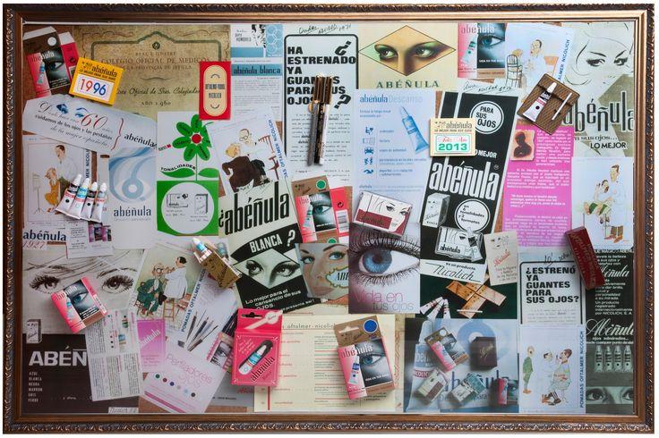 Tradición y modernidad se entremezclan en Abéñula.   Este collage preside la sede de Laboratorios Nicolich en Paseo Salvador Rueda (Málaga).