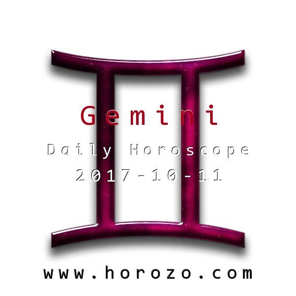 Gemini Daily horoscope for 2017-10-11: Get out in the world and meet new people today: it's easy for you! Whether you need a new job, a date or just stimulating conversations, you can get all of that and more if you step up and say hi.. #dailyhoroscopes, #dailyhoroscope, #horoscope, #astrology, #dailyhoroscopegemini